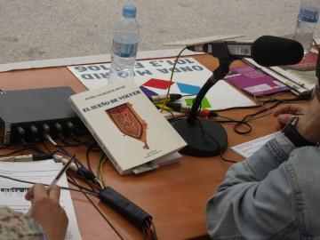 En los estudios de la emisora de la Comunidad de Madrid, Onda Madrid 101.3 FM
